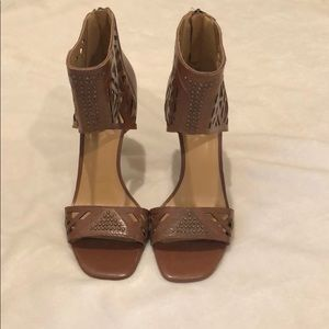 Nine West Karabee Ankle Strap Heels in Brown